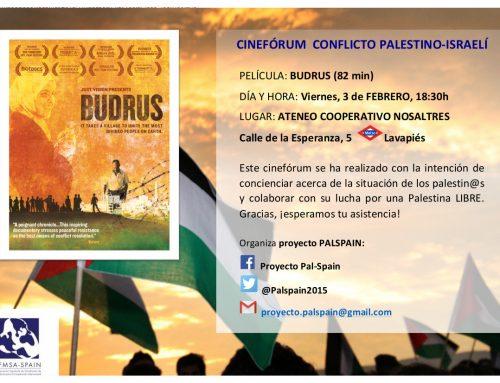 """Proyección de """"Budrus"""", CINEFORUM CONFLICTO PALESTINO-ISRAELÍ"""