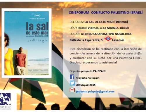 """Proyección: """"La sal de este mar"""". Cineforum por una Palestina LIBRE"""