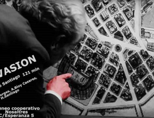 """CineForum: """"Invasión"""" Sábado 18 de Febrero a las 19:30"""