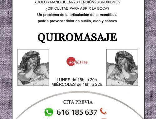 Ahora en Quiromasaje Nosaltres: tratamiento de la articulación de la mandíbula