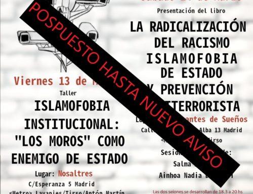 (Pospuesto hasta nuevo aviso) Taller y presentación: Radicalización del Racismo